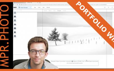 Créer un portfolio photo sur Wix.com