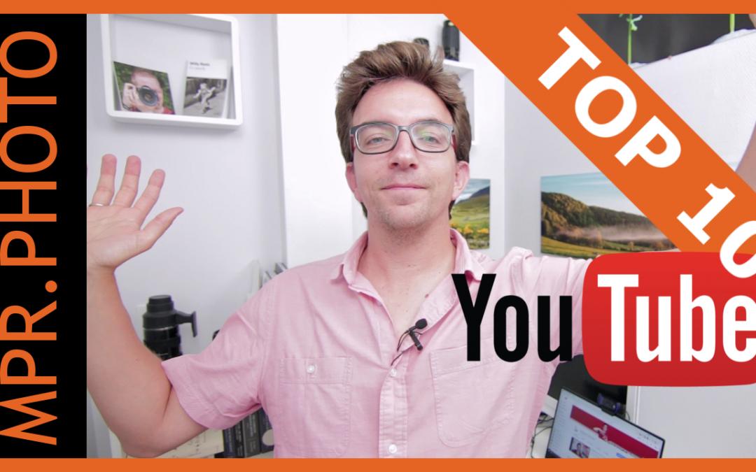 TOP 10 des chaines YouTube sur la photo